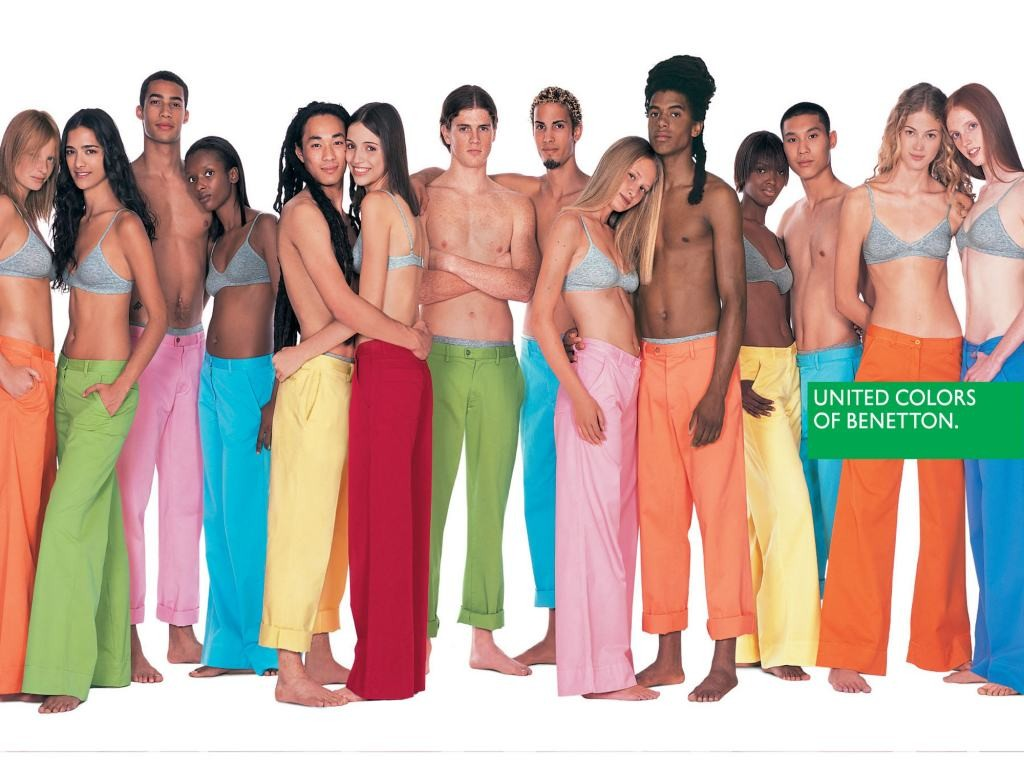Campagnes de pub united colors of benetton les for Benetton we are colors